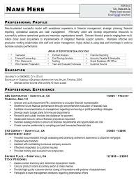 Resume Profile Template Entry Level Accounting Resume Examples Resume Example And Free