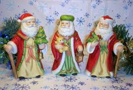 home interior porcelain figurines homco santa figurines home interiors 5610 set of 3