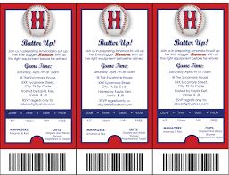baseball themed party invitations