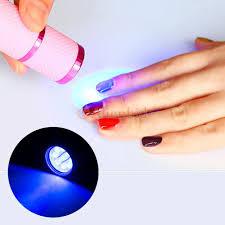 mini led uv gel lamp light nail dryer flashlight torch for nail