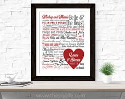 home decor disney couples love center heart typography wall