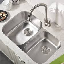 brushed nickel kitchen sinks
