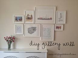 gallery wall ideas diy gallery wall crafty weekend craft projects for the weekend
