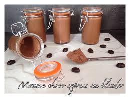 recette de cuisine avec blender mousse choco express au blender