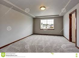 Basement Room by Empty Basement Room With White Walls Carpet Floor And One Window