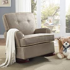 storkcraft bowback glider and ottoman set cherry beige hayneedle