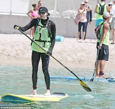 princess charlene of monaco competes in stand up paddle board race