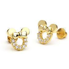 childrens gold earrings children s earrings ebay