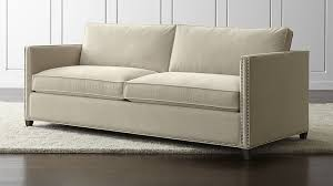 Queen Sleeper Sofa Dimensions Dryden Queen Sleeper Sofa With Nailheads And Air Mattress Crate