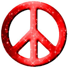 Peace Sign Meme - red glittered peace sign glitter graphic greeting comment meme or gif