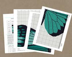 turquoise butterfly needlepoint kit thread studio