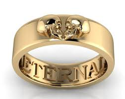 skull wedding bands mens skull wedding ring white gold grooms skull ring