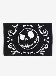 the nightmare before christmas jack black bath rug topic