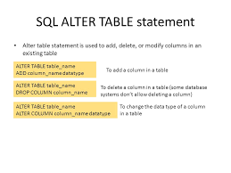 Alter Table Drop Column From Sql From Ppt Download