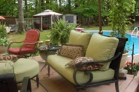 patio wicker patio furniture clearance red and brown square