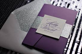 affordable pocket wedding invitations suite glitter pocket fold package letterpress wedding