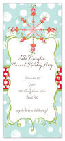 chic christmas holiday party invitation card design with blue