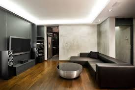 Living Room Design With Black Leather Sofa by Furniture Futuristic Furniture With Dark Living Room Storage And