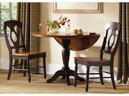 liberty furniture low country black drop leaf pedestal table u0026 2