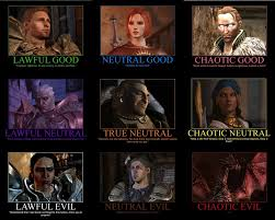 Dragon Age Memes - dragon age alignment chart by gamer28 on deviantart