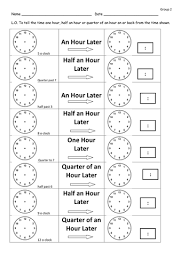 time later and before differentiated worksheets by clara5