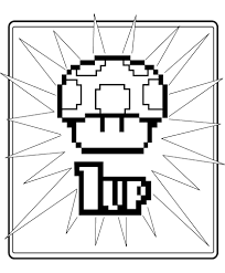 jimbo u0027s coloring pages 8 bit 1 up mushroom