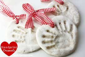 dough handprint ornaments