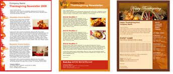 get free thanksgiving email templates