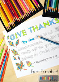 thessalonians 5 18 coloring sheet about thankfulness