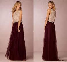 burgundy tutu skirt bridesmaid dresses 2016 champagne lace top a
