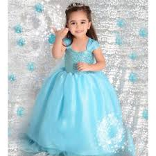 elsa costume kids dress blue gown birthday dress elsa costume frozen