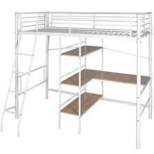 hauteur bureau enfant lit pliant à hauteur avec bureau en métal blanc et marron noir lit