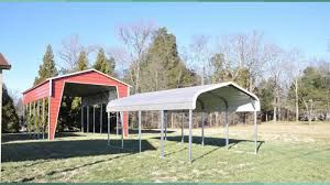 Open Carport by Metal Carports Nc Rv Covers Metal Storage Buildings Youtube