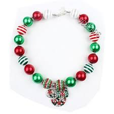 Minnie Mouse Christmas Decorations Christmas Necklace Mickey Minnie Mouse Bubblegum Necklaces
