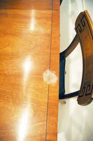How To Remove Stains From Wood Table How To Remove White Heat Marks On Furniture Little Green Notebook