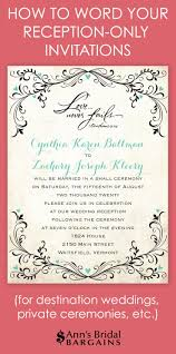 wedding ceremony invitation wording best 25 reception only invitations ideas on reception
