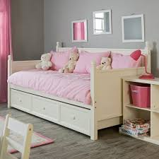 girls white beds stylish trundle day bed bedding all modern home designs pictures