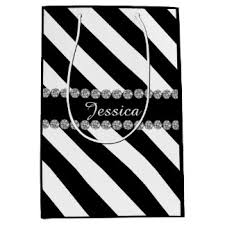 black and white striped gift bags black and white stripes gift bags zazzle co nz