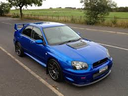 subaru impreza modified blue 2004 sti type uk 448bhp 404lbs low miles private plate xxr u0027s