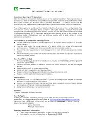 Sample Resume For Business Analyst In Banking Domain by Investment Banking Analyst Resume Free Resume Example And