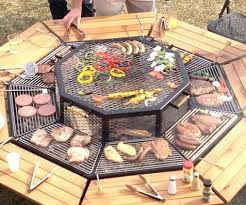 sit around grill table grill round table