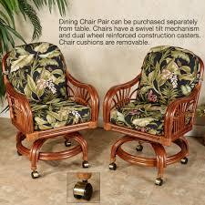 Swivel Tilt Dining Chairs by Leikela Wailea Coast Tropical Dining Furniture Set