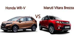 honda car comparison honda wr v vs maruti vitara brezza compare price features