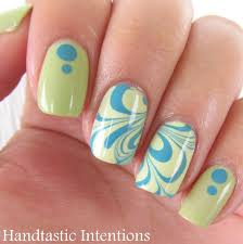 handtastic intentions nail art spring inspired water marble