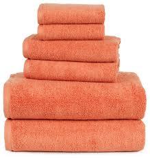 Bathroom Towel Sets by 100 Cotton Zero Twist 6 Piece Towel Set By Lavish Home