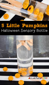 Halloween Poems And Songs 5 Little Pumpkins Float And Sink Halloween Sensory Bottle