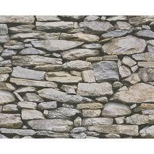 as creation rustic slate stone wall pattern realistic wallpaper 958202