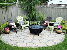 Firepit Area Pit Area With Pea Gravel Curved Bench Back How Should A