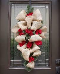 wreath burlap burlap swag hydrangea and burlap