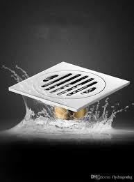 4inch square solid brass chrome shower floor drain kitchen waste